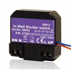 Micromódulo X10 para subida y bajada de persianas, toldos y estores motorizadas para instalación oculta Marmitek. SW12