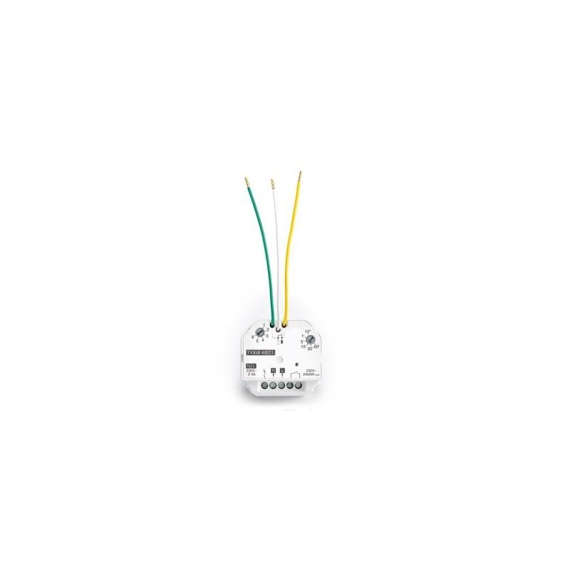 Micromódulo receptor inalámbrico de contacto seco encerder-apagar y temporización. TYXIA 4801