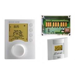 Pack regulador Delta Dore para sistema de climatización por aire distribuido y para suelo radiante. Pack DELTA 630