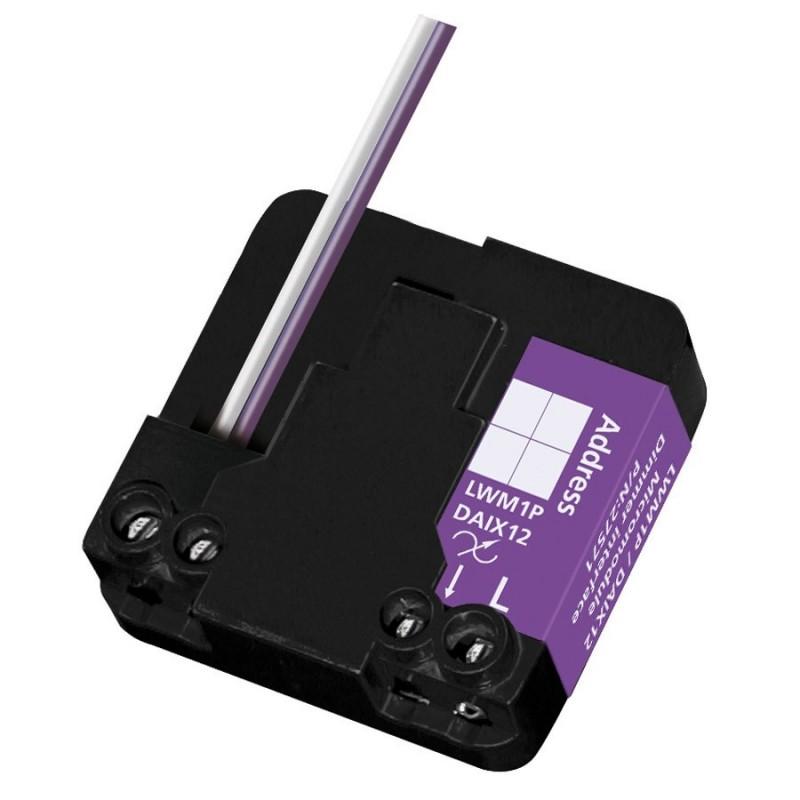 Micromódulo X10 dimmer regulación1 zona de iluminación bidireccional para instalación oculta Marmitek. LWM1P-DAIX12