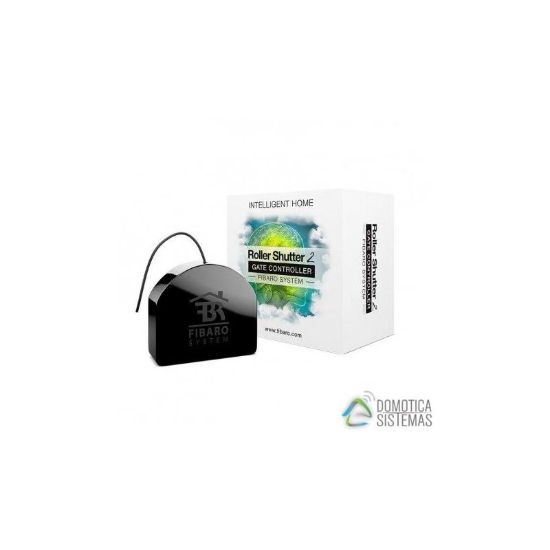 Micromódulo Roller Shutter 2 de Fibaro para control de persianas, estores, toldos y puertas de garaje Z-Wave