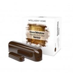 Sensor de apertura puerta y ventana Fibaro marrón oscuro Z-Wave Plus
