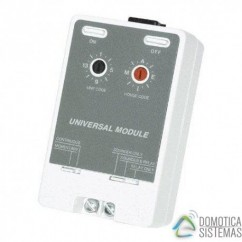 Receptor universal X10 con contacto libre de tensión. UM7206