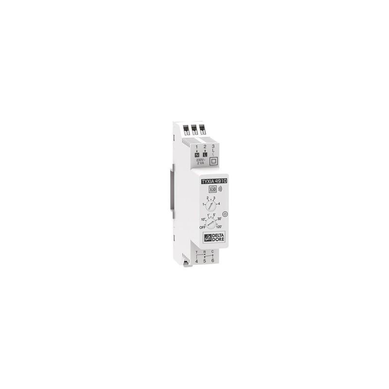 Receptor modular de carril DIN on/off Delta Dore para el control de iluminación.TYXIA 4910