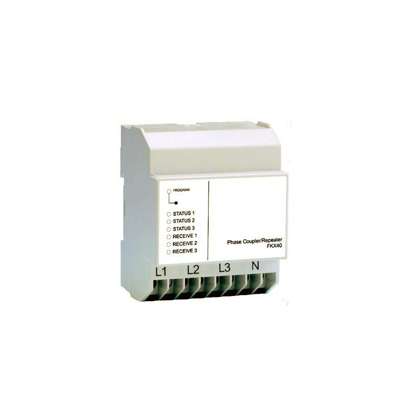 Acoplador y amplificador de carril DIN para señales X10 Marmitek. FKX40