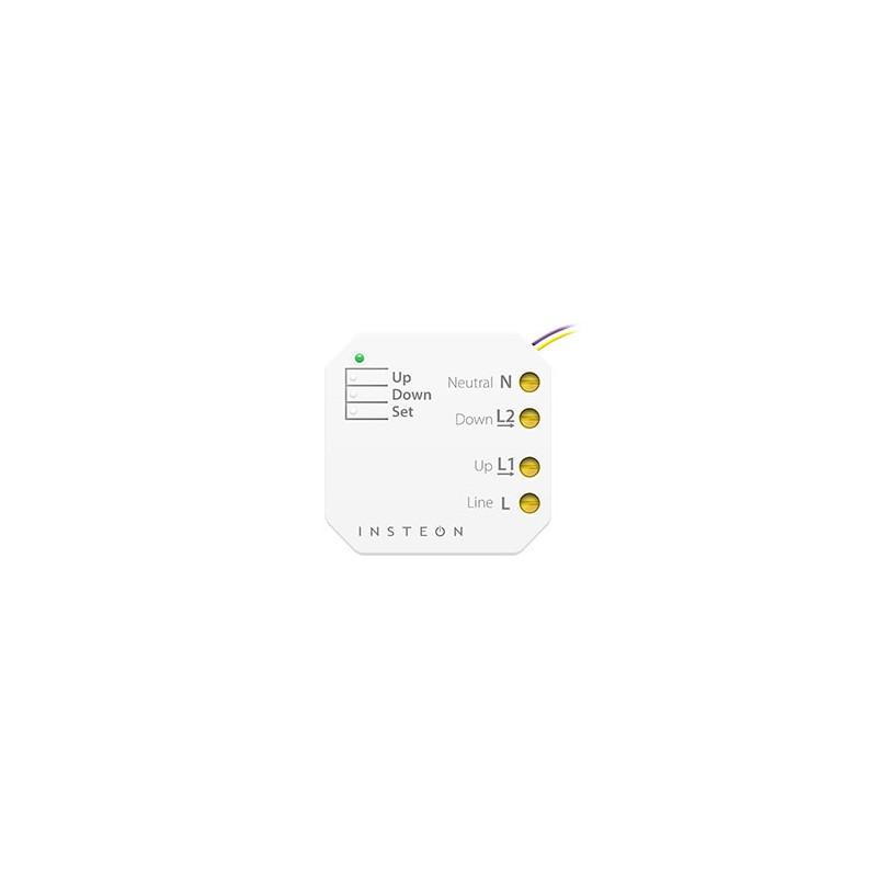 Micromódulo Insteon para subida-bajada de persianas motorizadas para instalación oculta. Micro Shutter