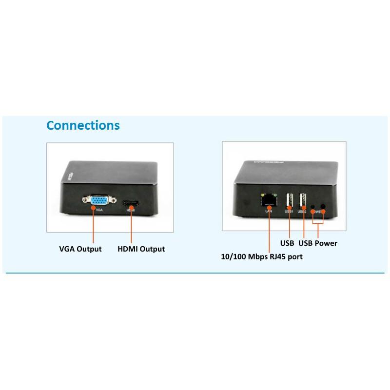 Grabador mini NVR FN3004H Blanco o negro