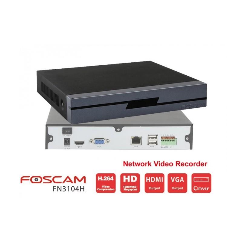 Grabador FN3104H NVR vídeo grabador 4CH 720p/960p