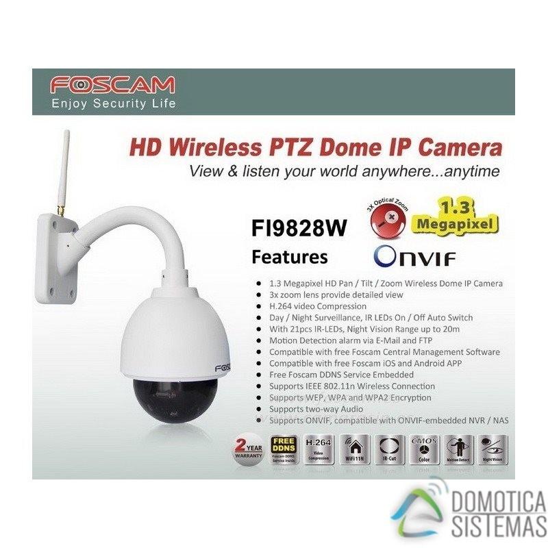 Cámara IP de exterior FI9828P V2 WIFI motorizada 1.3 Megapixel