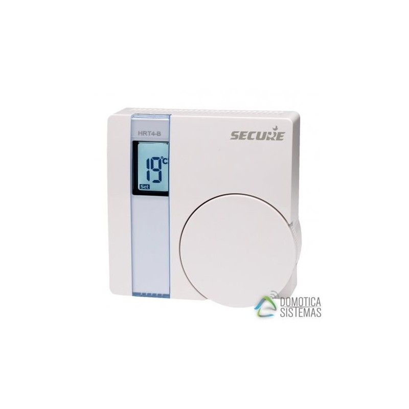 Termostato de pared SECURE SRT321 con pantalla LCD Z-Wave