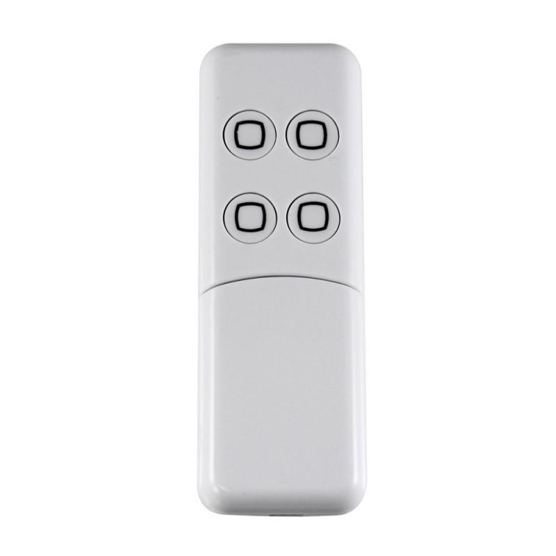 Minimando de cuatro botones Aeotec recargable por usb, color blanco Z-Wave