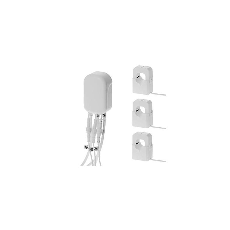 Medidor de consumo eléctrico general Aeotec GEN5 suministrado con tres pinzas, hasta 60 Amperios Z-Wave