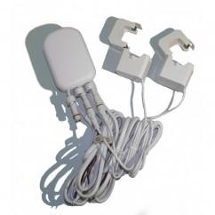 Medidor de consumo eléctrico general Aeotec GEN 5 suministrado con dos pinzas, hasta 60 Amperios Z-Wave