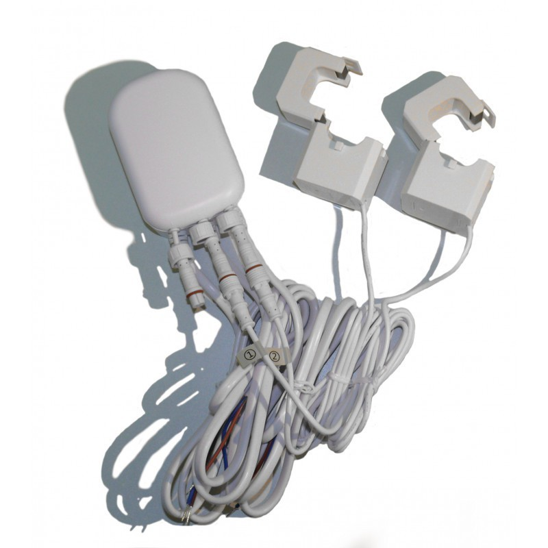 Medidor de consumo eléctrico general Aeotec suministrado con dos pinzas, hasta 60 Amperios Z-Wave