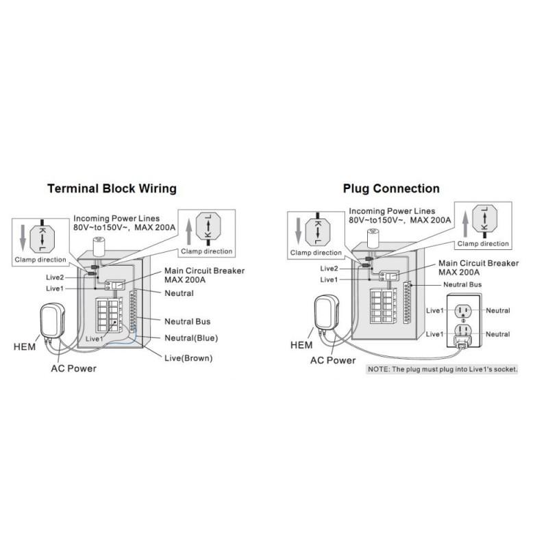 Dispositivo para control consumo general, suministrado con una pinza, valido hasta 60 Amperios.