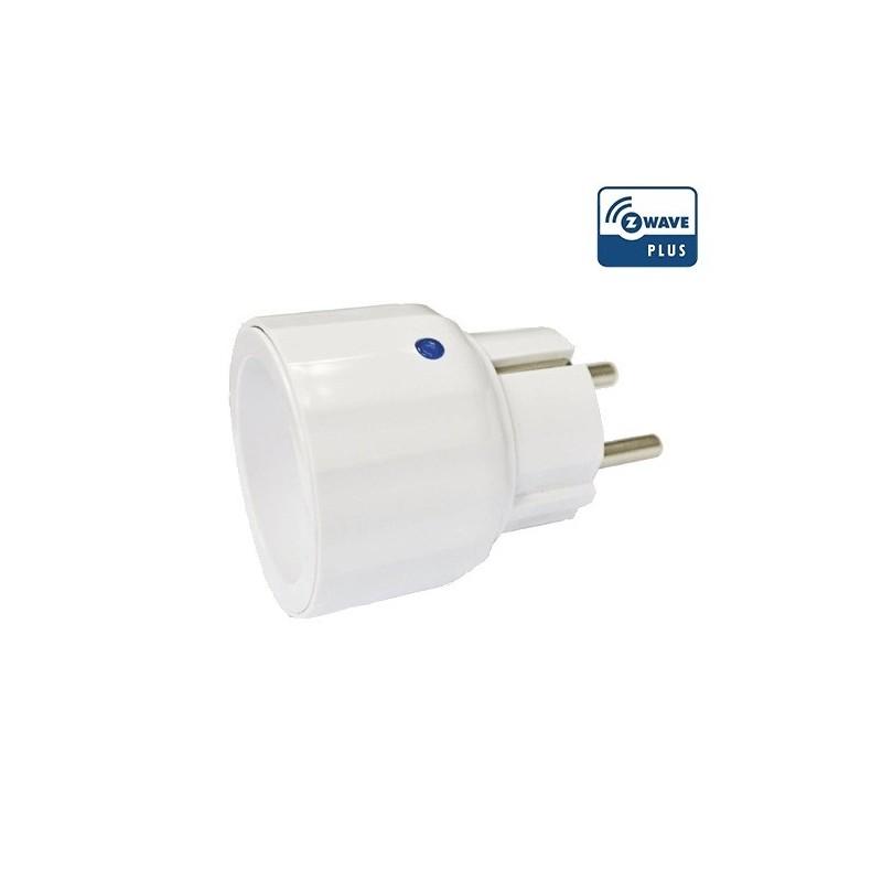 Módulo de enchufe on-off con medición de consumo Z-Wave Plus.
