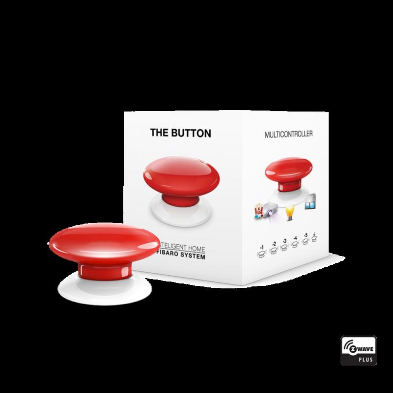Botón de acción rojo de Fibaro Z-Wave Plus