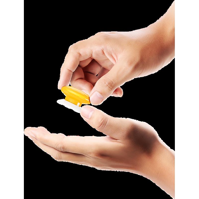 Botón de acción amarillo