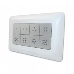 Mando control de pared Remotec Scene Master 8 botones con iluminación Z-Wave Plus