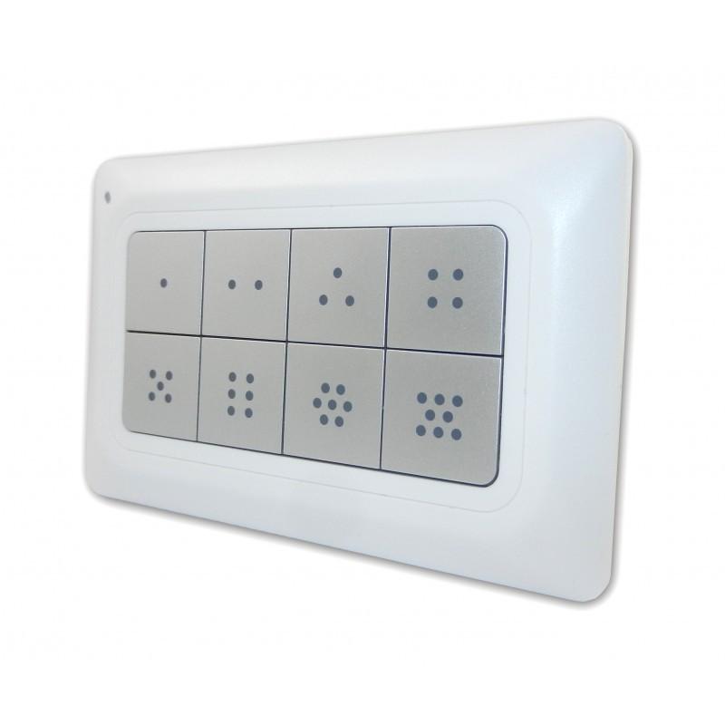 Mando control de pared Remotec Scene Master con 8 botones con iluminación Z-Wave Plus
