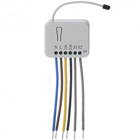 Micromódulo interruptor de 2 relés 2x1,5 Kw Philio y control de consumo Z-Wave Plus
