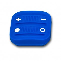 Mando interruptor cuatro botones NODON de superficie color azul Z-Wave