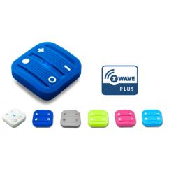 Mando interruptor cuatro botones NODON de superficie color azul Z-Wave