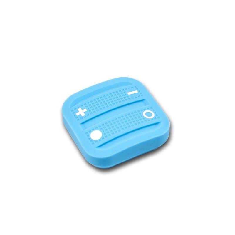 Mando interruptor cuatro botones NODON de superficie color azul claro Z-Wave Plus