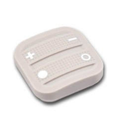 Mando interruptor cuatro botones NODON de superficie color gris Z-Wave Plus