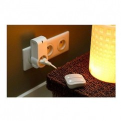 Mando interruptor cuatro botones NODON de superficie color gris Z-Wave