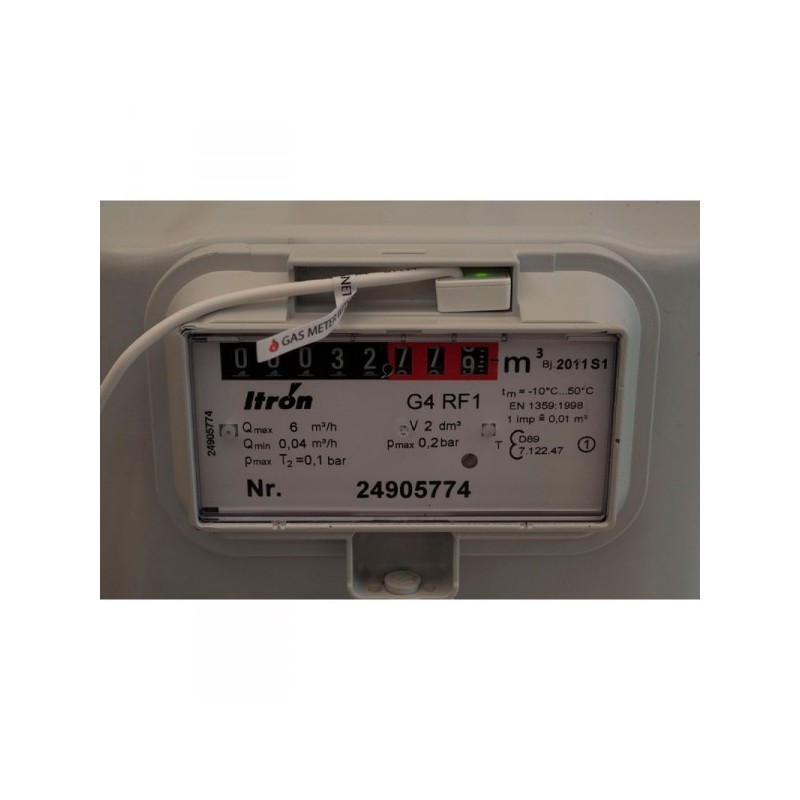 Medidor de consumo para gas NorthQ, para instalar en contador Z-Wave