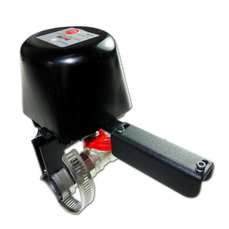 Electroválvula con motor POPP para cierre de llaves de paso anti-inundación o anti-fugas de gas Z-wave Plus