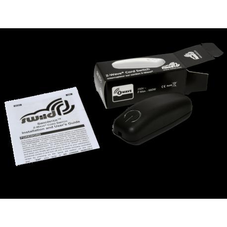 Interruptor SWIID para insertar en cable de lampara color negro Z-Wave