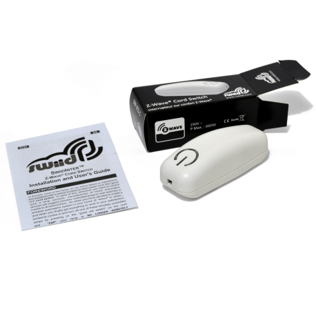 Interruptor SWIID para insertar en cable de lampara color blanco Z-Wave
