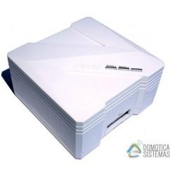 Controlador domótico Zipabox de Zipato, permite conectar módulos de diferentes protocolos.