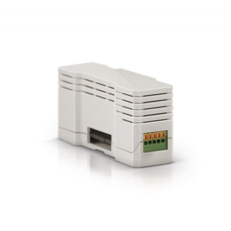 Módulo de ampliación Zipato que permite conectar alarmas tipo DSC o Paradox, o cualquiera que emplee salida 232 o 485.