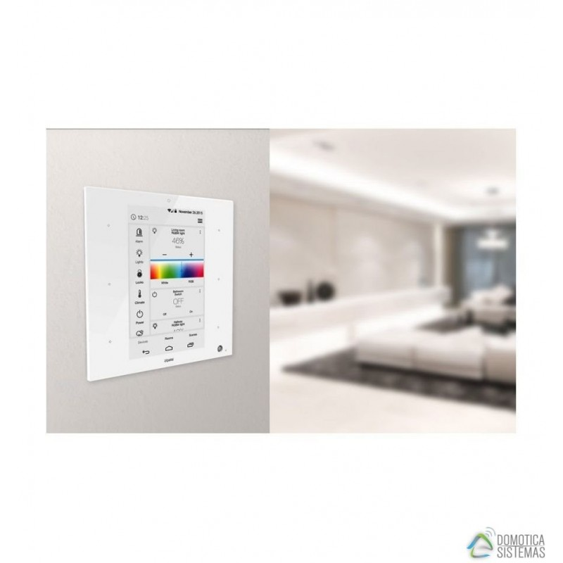 Controlador domótico de Zipato formato mural para Z-wave Plus y Zigbee, color blanco