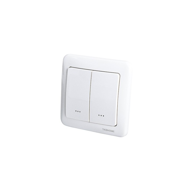 Interruptor de pared con módulo dimmer integrado, dos botones Z-wave Plus
