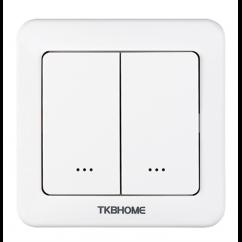 Interruptor de pared con módulo dimmer integrado, dos botones Z-wave Plus