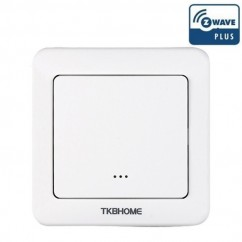 Interruptor de pared con módulo dimmer regulador TKB Home integrado de una sola carga y una tecla Z-wave Plus
