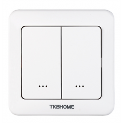Interruptor de pared con módulo on/off integrado, dos teclas Z-wave Plus