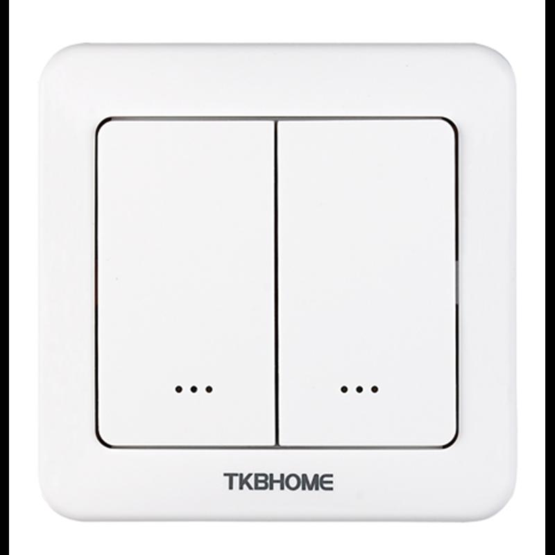 Interruptor de pared con módulo on/off integrado, dos teclas Z-wave Plus