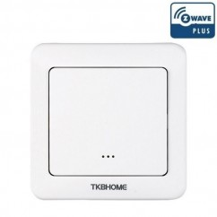 Interruptor de pared con módulo on/off integrado, una tecla Z-wave Plus