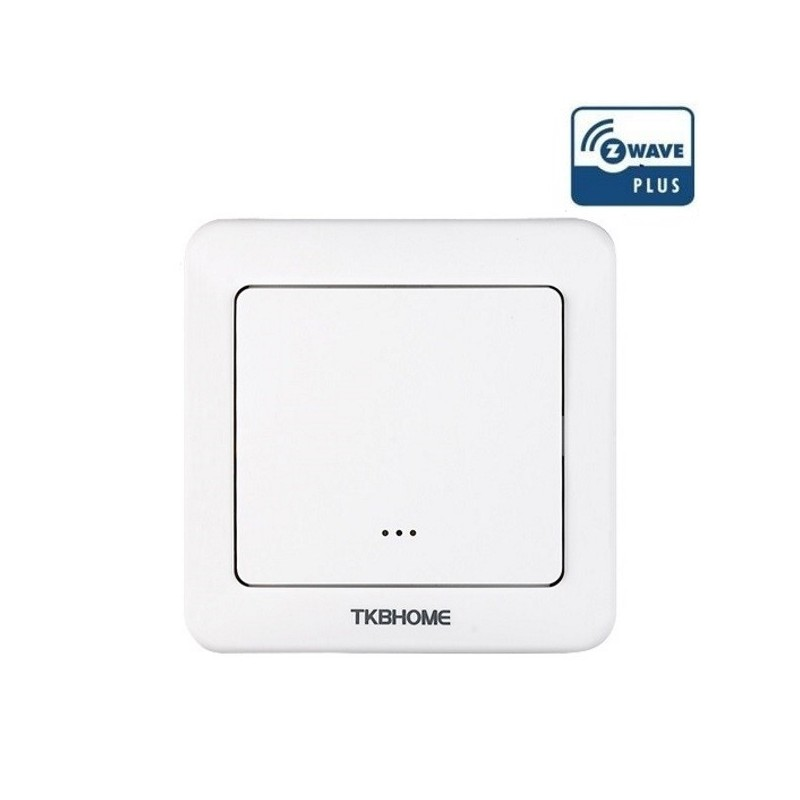 Interruptor de pared con módulo on-off TKB Home integrado de una sola carga y una tecla Z-wave Plus