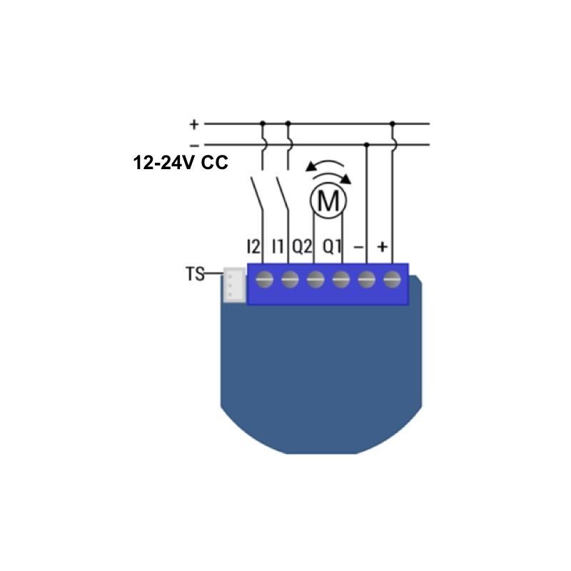Micromódulo Qubino para control de motores de 12 y 24 v dc Z-Wave