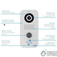 Videoportero WIFI / IP Doorbird edición plata conectado a internet D101S