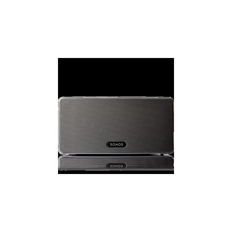 Altavoz SONOS doméstico PLAY:3 de tamaño medio con sonido estéreo.