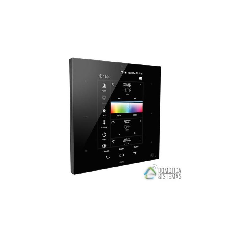 Controlador domótico de Zipato formato mural para Z-wave Plus y Zigbee, color negro