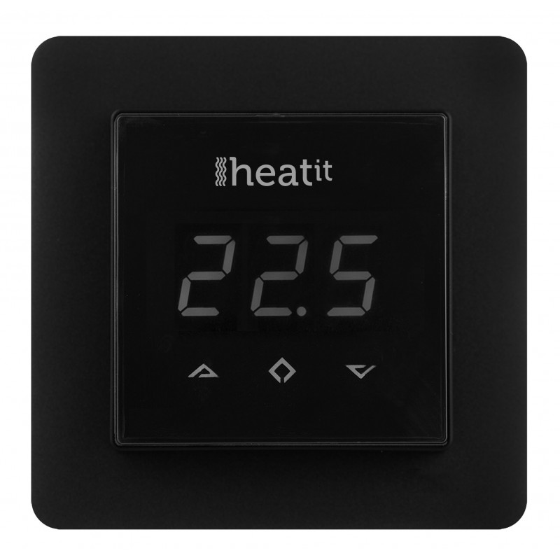 Termostato de pared Heatit 3600W 16A Z-Wave Plus Negro