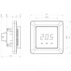 Termostato de pared Heatit 3600W 16A Z-Wave Plus Blanco
